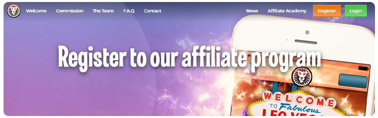 registration in affiliate leo vegas